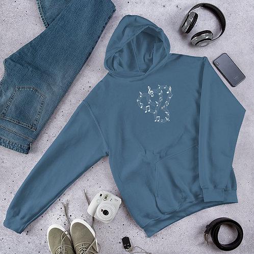 "Thankful ""Musical Notes"" Unisex Heavy Blend Hooded Sweatshirt"