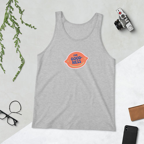 """For Goodness"" Unisex Singlet Tank Top"
