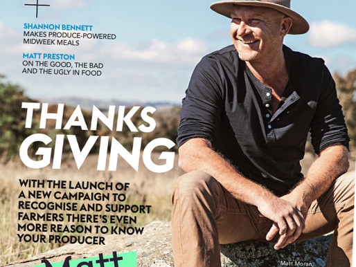 Thankful Ambassador, Matt Moran on the cover of Delicious Magazine