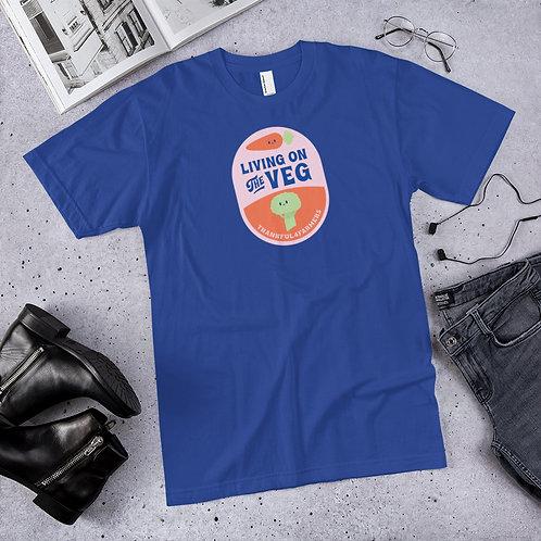 """""""Living on the Veg"""" Men's Short sleeve T-Shirt"""