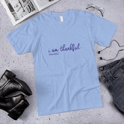 """""""I am Thankful"""" Script Short Sleeve Men's Jersey T-Shirt"""
