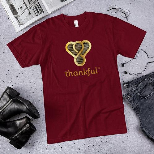 "Thankful ""Gold Music Speaker"" Short Sleeve Men's Jersey T-Shirt"