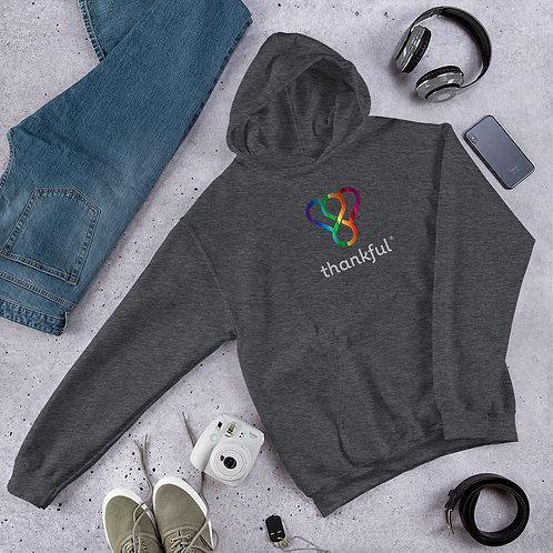 "Thankful ""Rainbow"" Unisex Heavy Blend Hooded Sweatshirt"