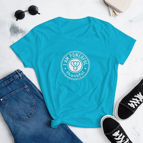 """""""I am Powerful"""" Seal Short Sleeve women's T-Shirt"""