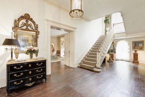Spacious, statement hallway and stairs