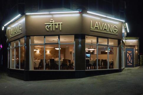 Indian fine-dining façade.