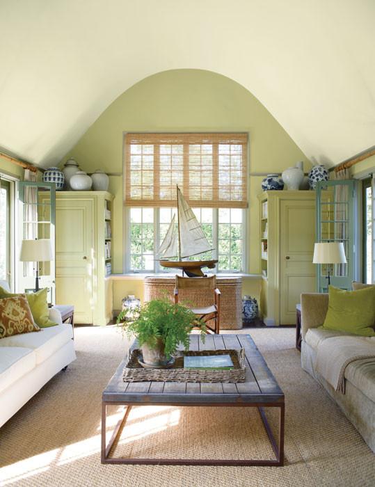 Mossy green living room