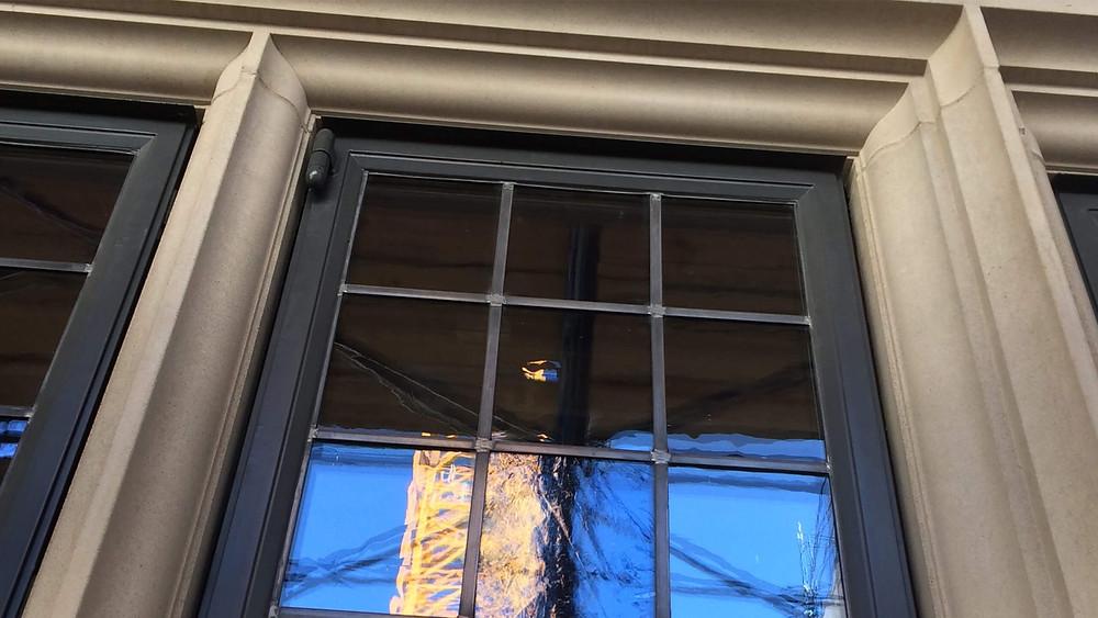 Crittall windows set in stone mullions
