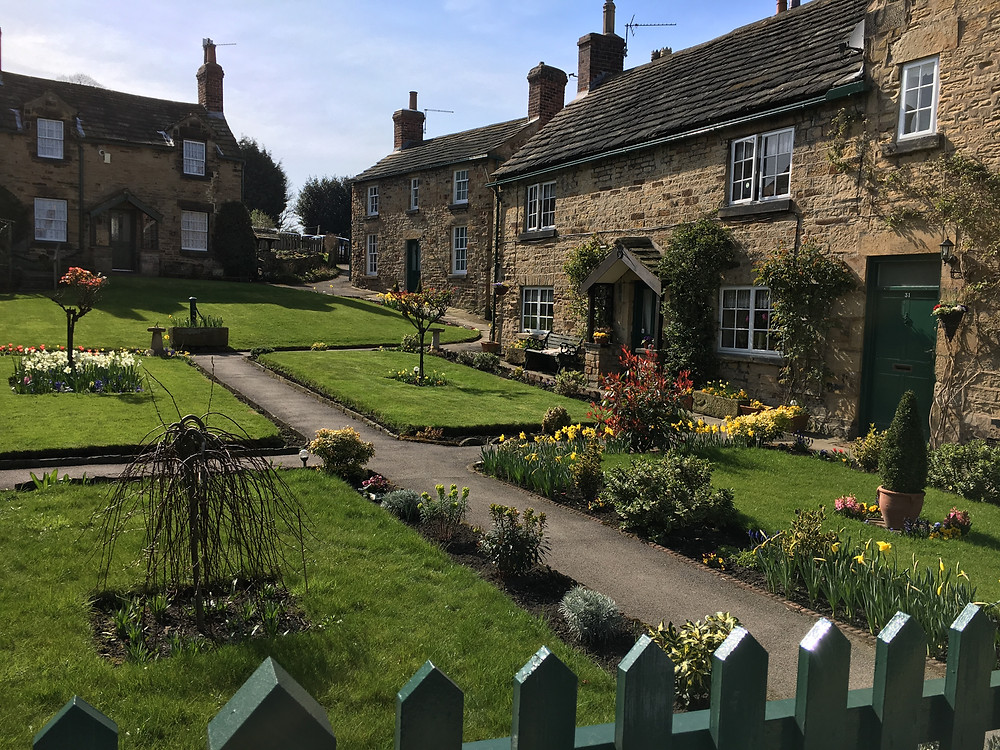 Row or Terraced Cottages, with beautifully tendered gardens