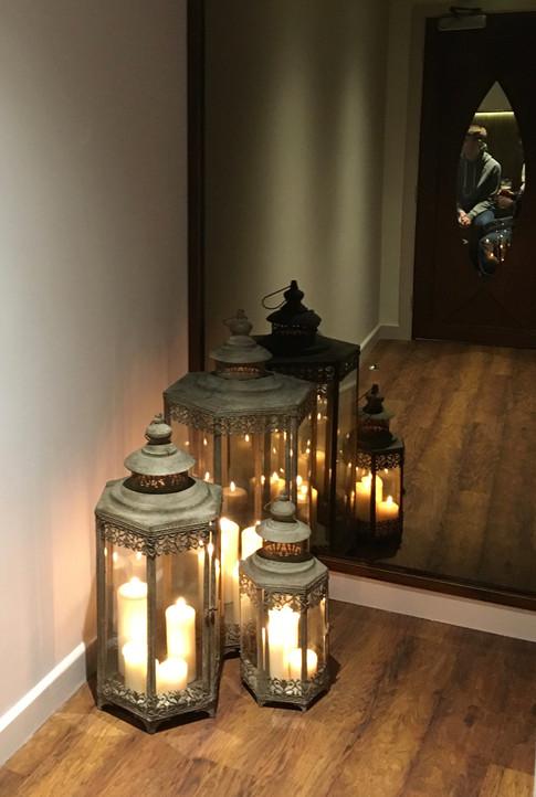 Lanterned Hallway