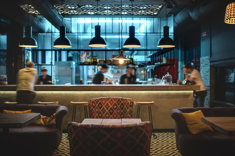 Industrial-styled bar