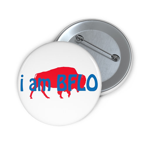 i am BFLO Custom Pin Buttons