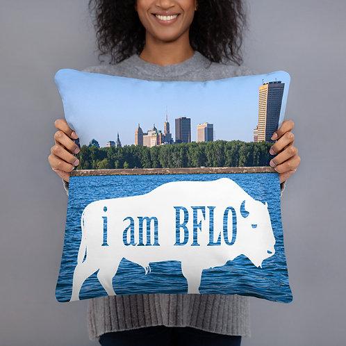 """i am BFLO 18"""" x 18"""" Throw Pillow"""