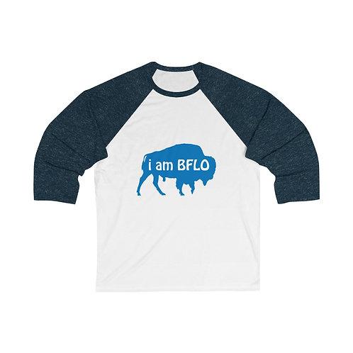 i am BFLO Unisex 3/4 Sleeve Baseball Tee