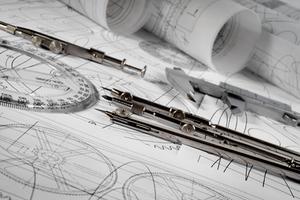 Imagem de um desenho técnico que será interpretado