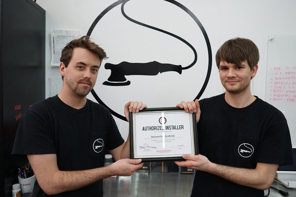 Bryan & Steven Proudly Displaying Their Certification