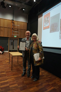 Sue Harper, 2017 (pictured with Phil Powrie)