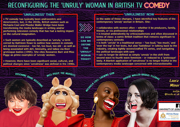 Minor 'Unruly' women BAFTSS PGR Poster 2