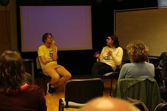 Dr Bartek Dziadosz interviewing Andy Hol