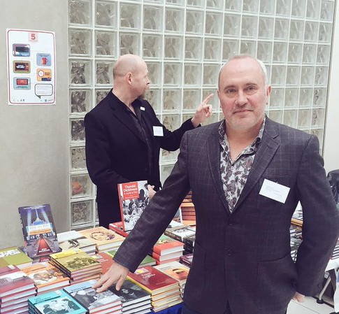 Andy Moor at the Publisher's Fayre