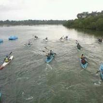 Kayaking session