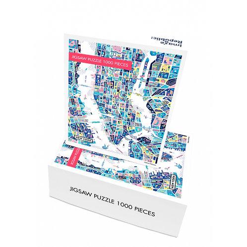 Puzzle ANTOINE CORBINEAU NEW YORK 1000 pièces