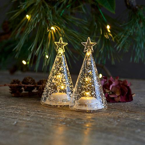Ensemble de 2  arbres lumineux ROMANTIC