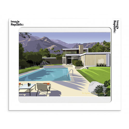 Tirage PAULO MARIOTTI DESERT KAUFMANN HOUSE 40x50 cm