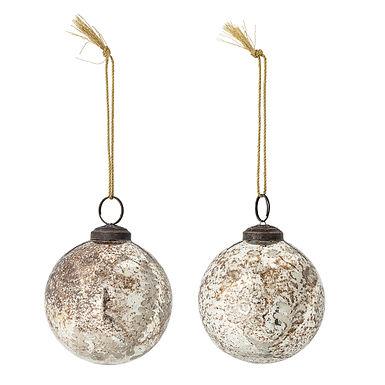 Ensemble de 2 boules de Noël à suspendre
