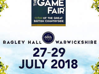 We are at The Game Fair @Ragley Hall from Friday 27 July until Sunday 29 July. Come & see us at