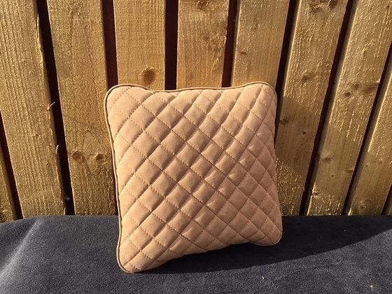 Brown Alcantara Quilted Cushion