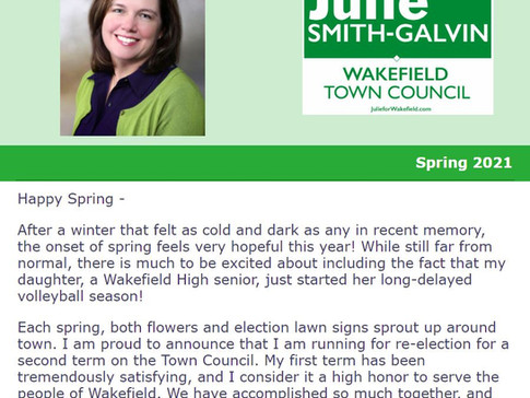 Spring sprouts flowers and election lawn signs