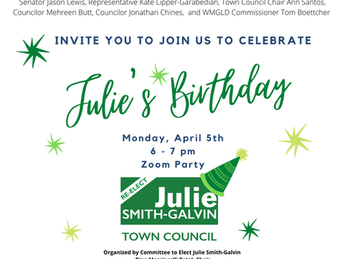 You are Invited to Julie's Birthday Party
