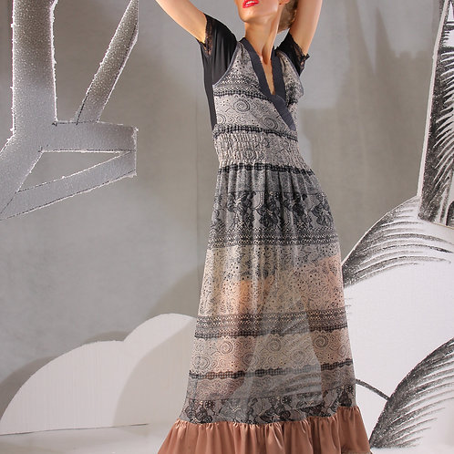 Платье кружевной шифон длинное пышное