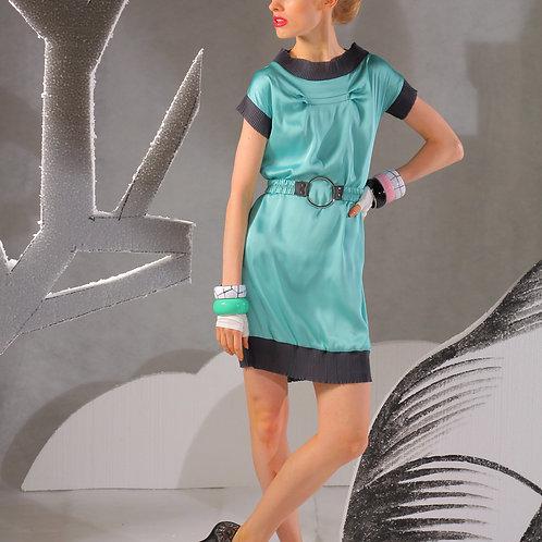Платье мини Бирюза прямоугольное с поясом