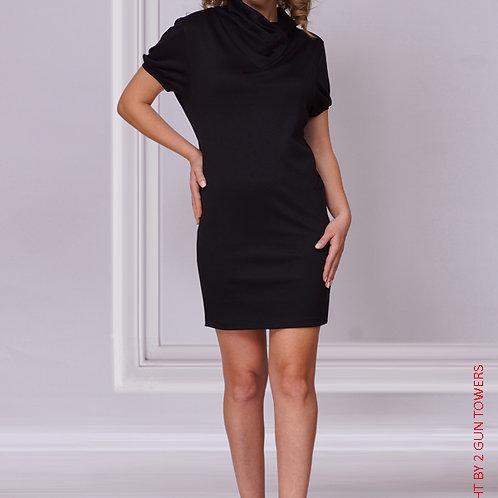 Платье мини с коротким рукавом