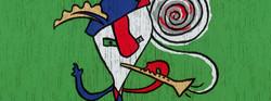 flutist primary colours illustration