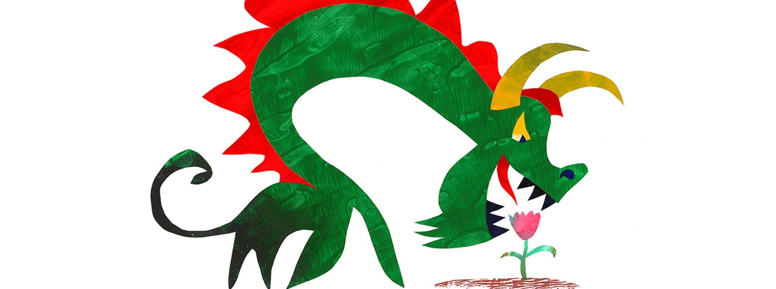 dragon fear flower illustration