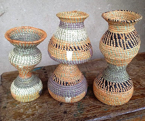 Two Tier Baskets/Vase