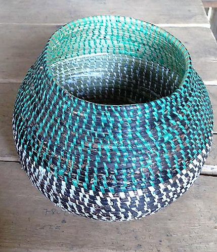 Aqua and Black Basket