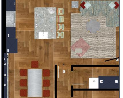 VectorWorks Rendered Floorplan