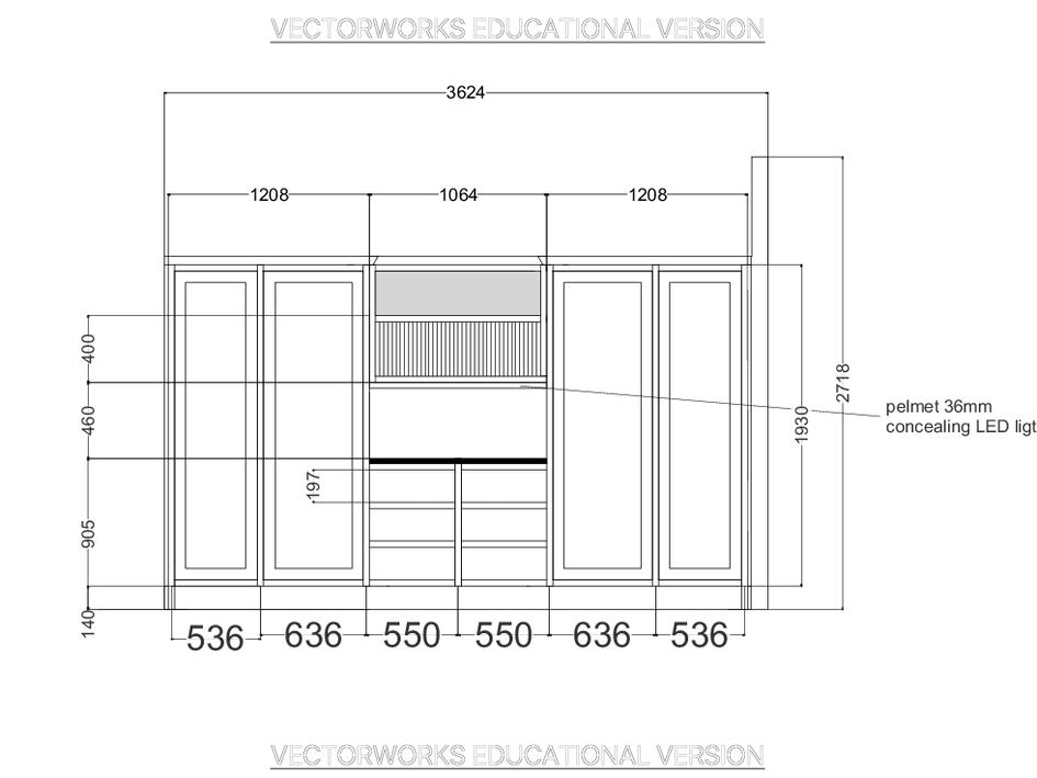 Kitchen Utility Area Elevation