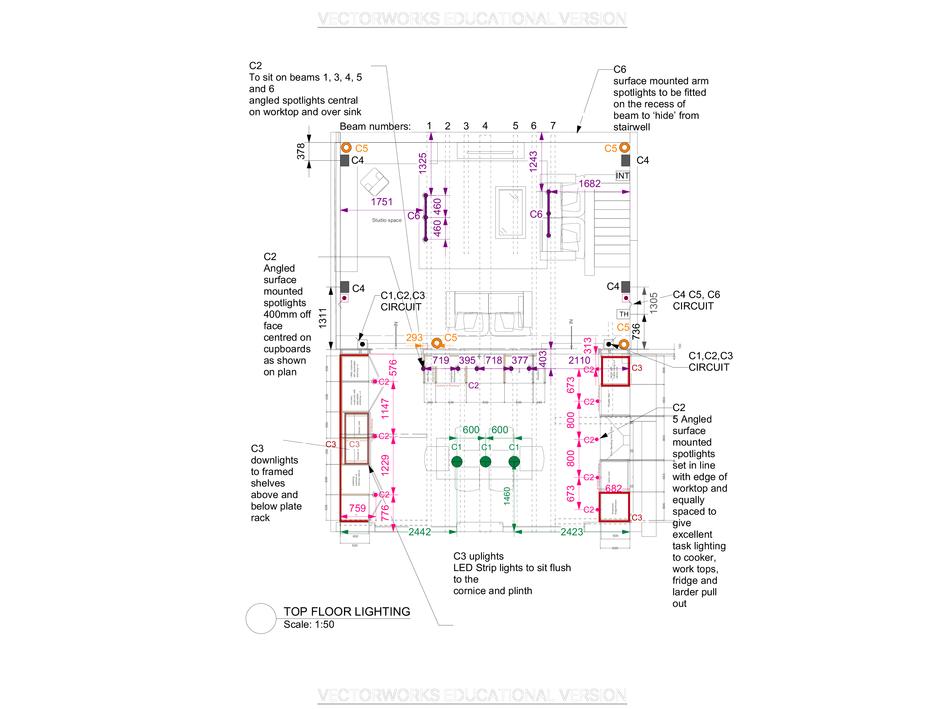 Kitchen Lighting Plan
