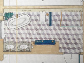 Hand rendered floor plan