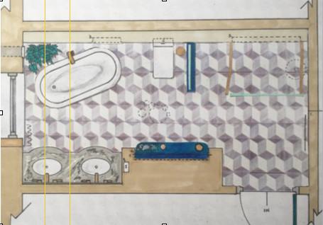 Hand Rendered and drawn Floorplan