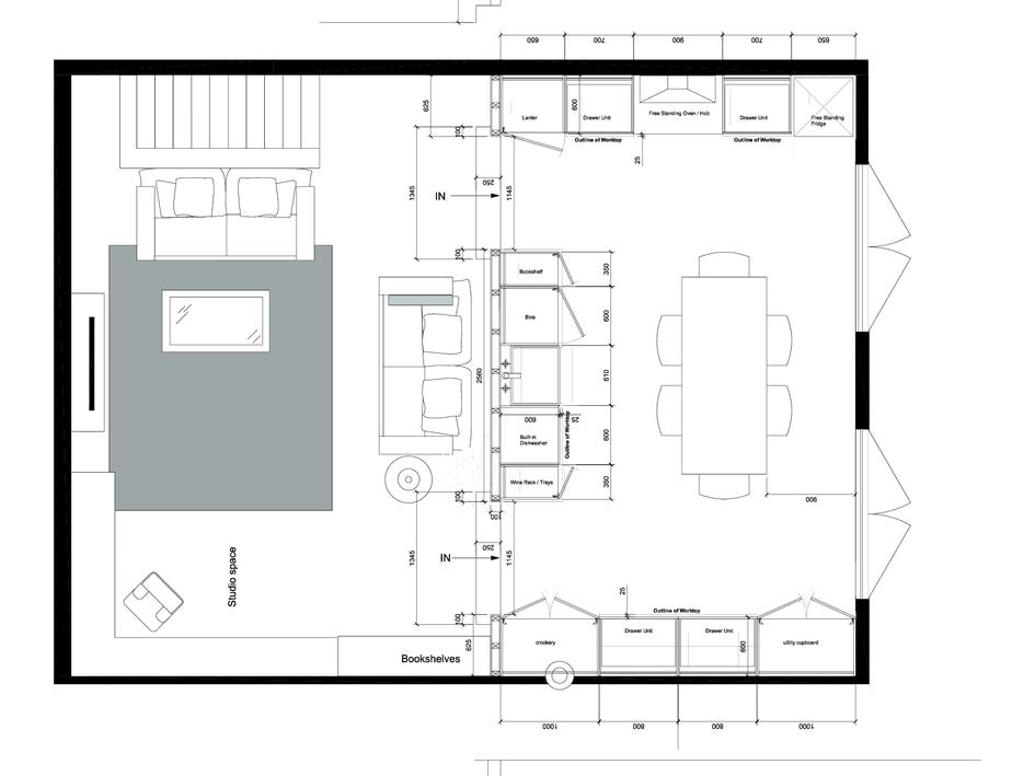 Kitchen Floorplan and Elevations