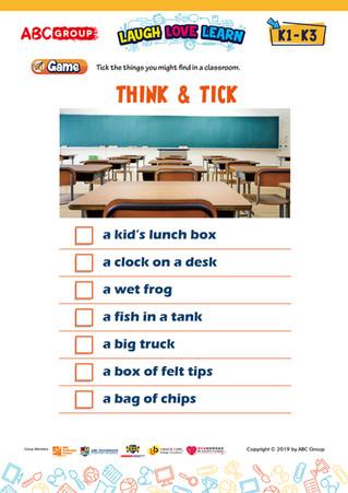 英語工作紙下載 - Think & Tick K1-K3