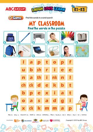 英語工作紙下載 - My Classroom K1 - K3