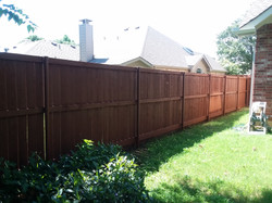 RE STAINED FENCE