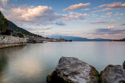 Tramonto a Salò, Lago di Garda